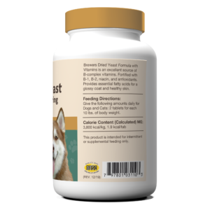 Brewers Dried Yeast With Garlic Chewable Tablets