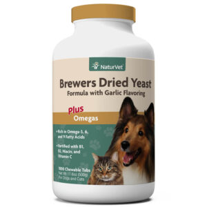 Brewers Dried Yeast Formula with Garlic Flavoring Chewable Tablets